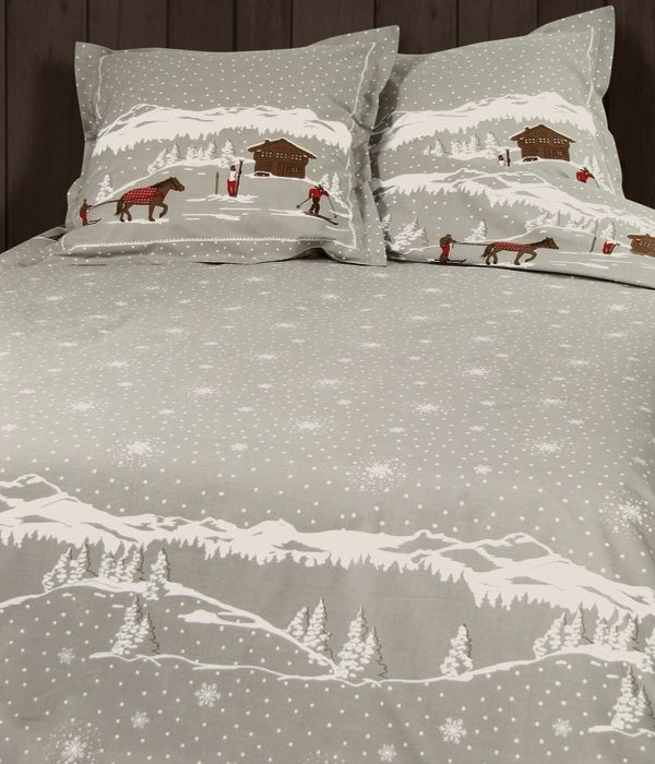 mountain range duvet cover french chalet things to do. Black Bedroom Furniture Sets. Home Design Ideas