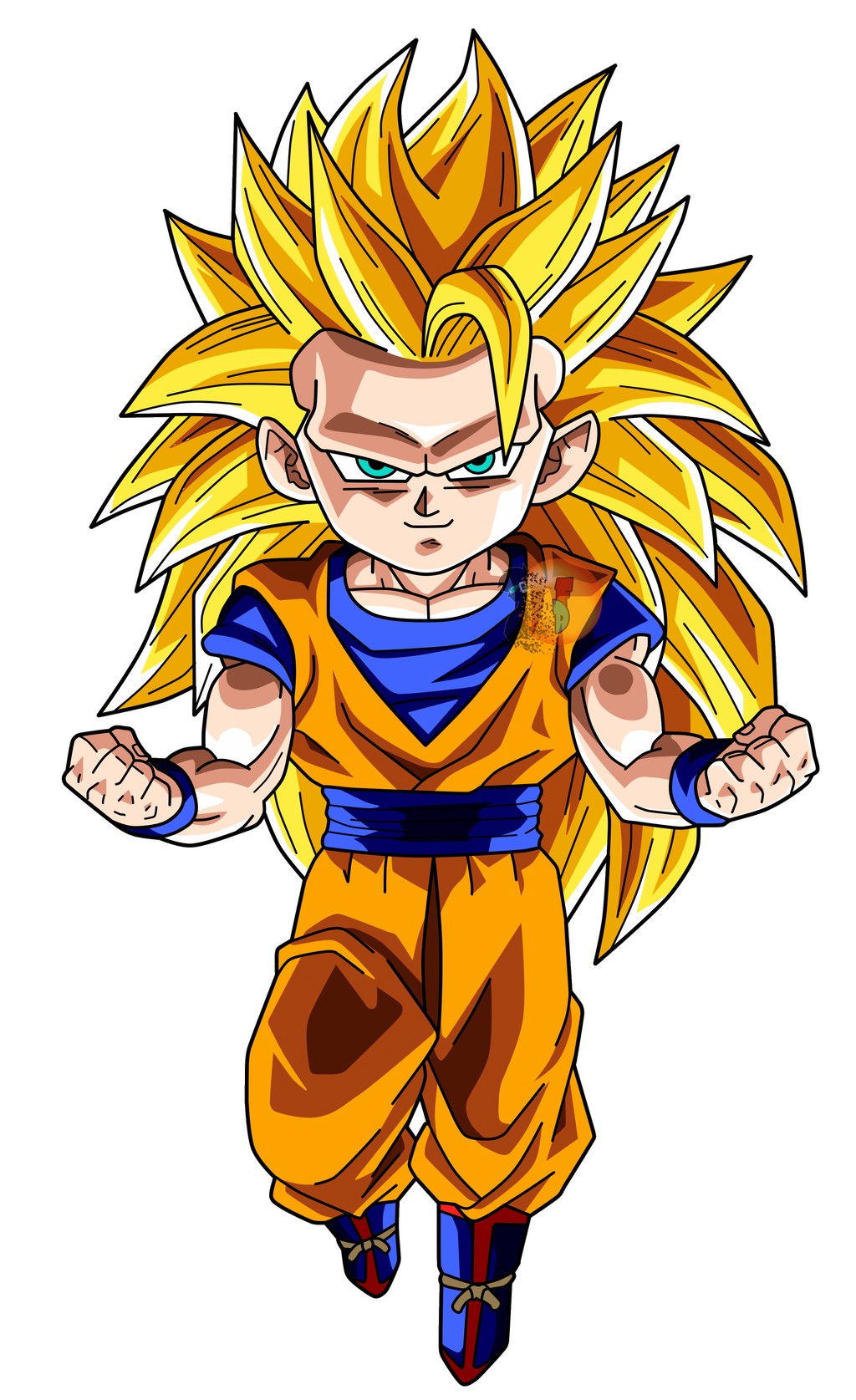 Goku Ssj3 Chibi Facudibuja By Facudibuja On Deviantart Chibi Dragon Dragon Ball Tattoo Anime Dragon Ball Super