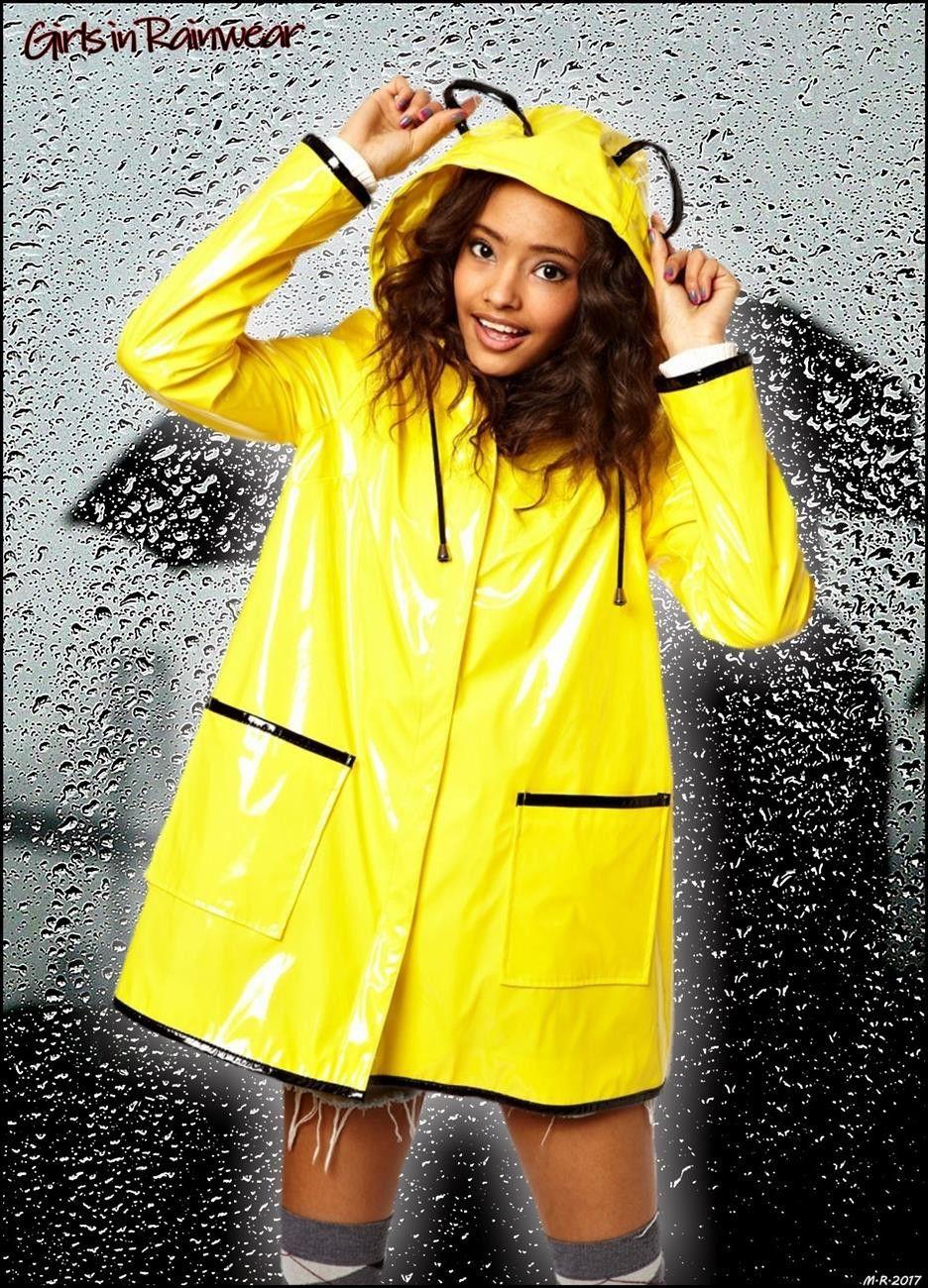 Girls In Rainwear Rain Coats 2019 Yellow Raincoat