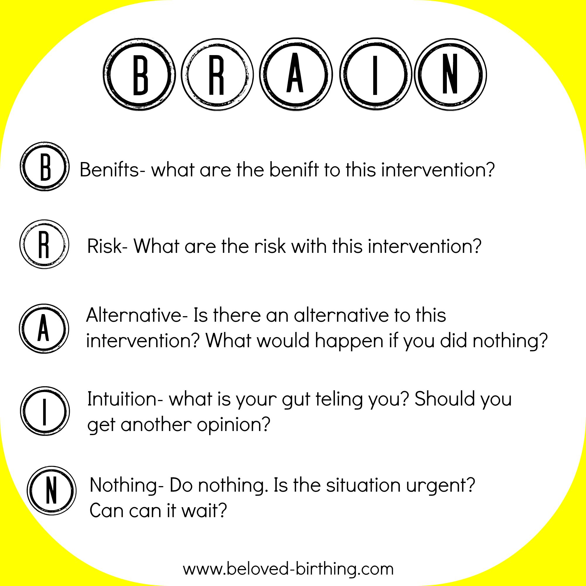 Image result for brain benefit risk alternative