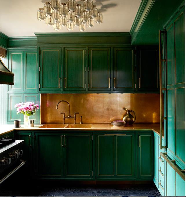 Green Lacquer Kitchen Manhattan Kitchen Celebrity Kitchens Home