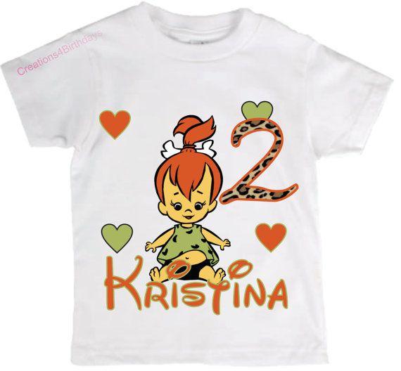 Pebbles Flintstones Birthday Shirt By Creations4Birthdays
