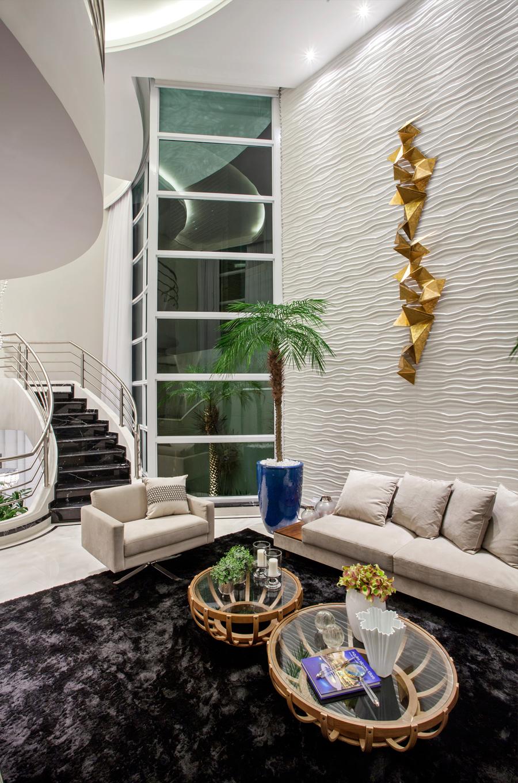 Casa Moderna Fachada Sala Jantar Quarto Banheiro Lavabo Cozinha