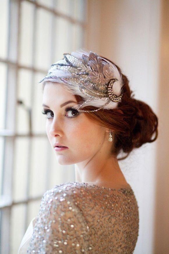 The Great Gatsby Wedding Inspiration Weddings Hair Accessories Bridesclub By Dreamdayinvitations