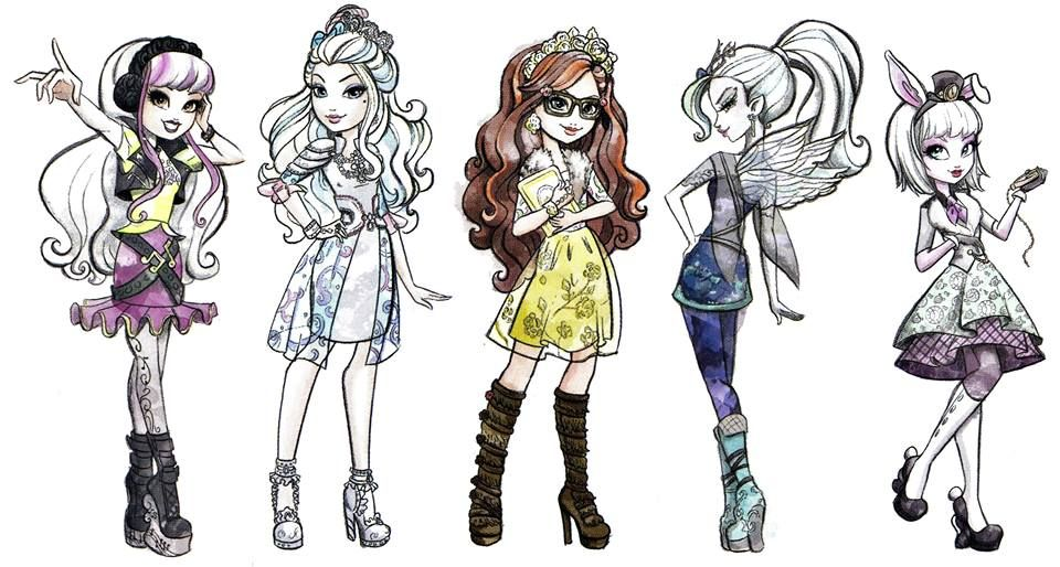 Ever After High Melody Piper, Darling Charming, Rosabella Beauty ...