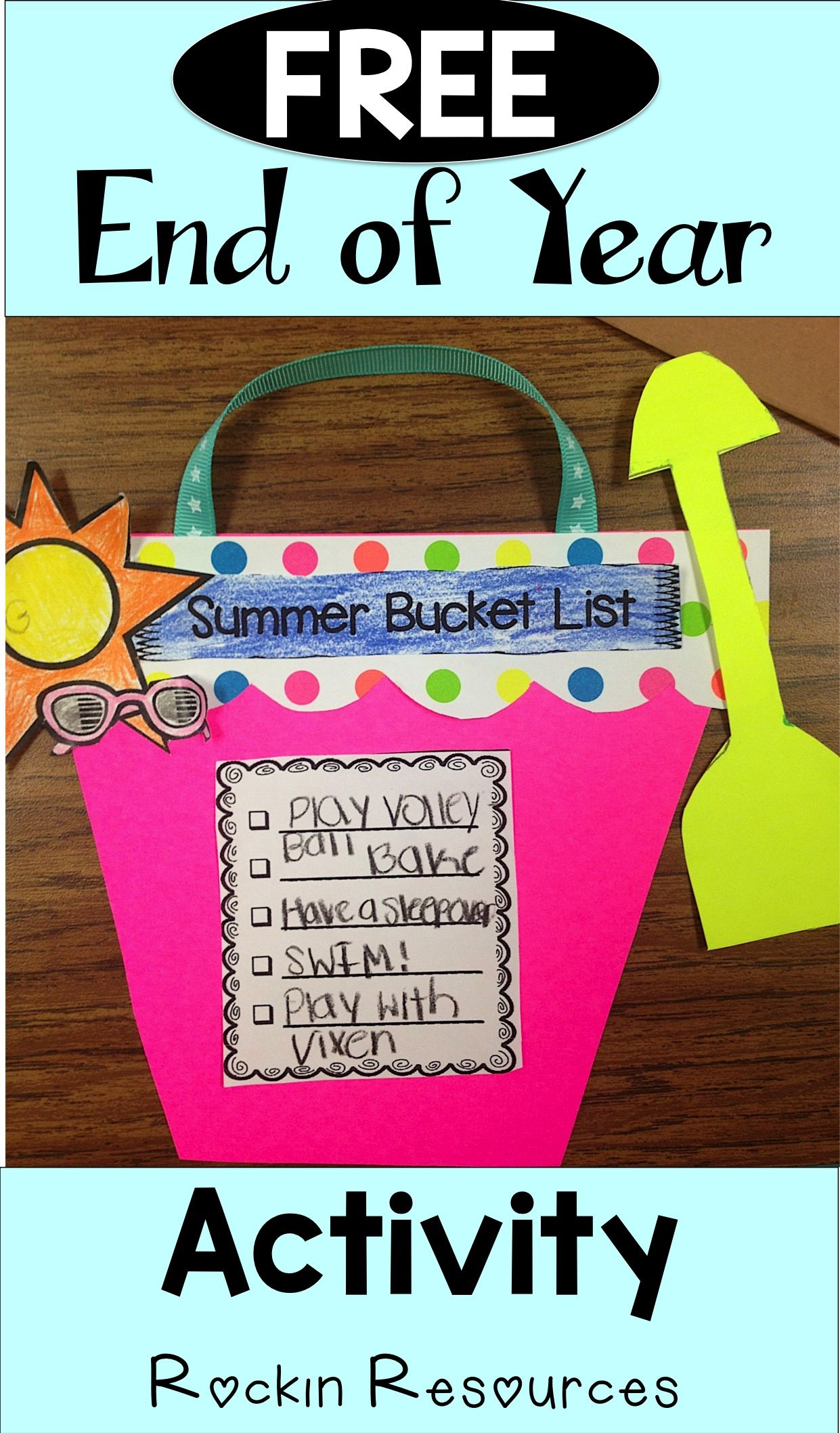 Summer Bucket List Activity Summer Bucket List Activity Summer