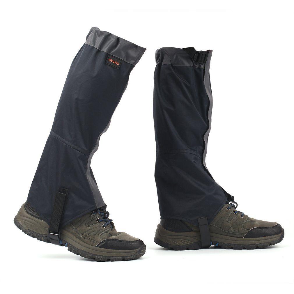 1 Pair Hiking Boot Gaiters Waterproof Snow Leg Legging Cover Hunting Climbing