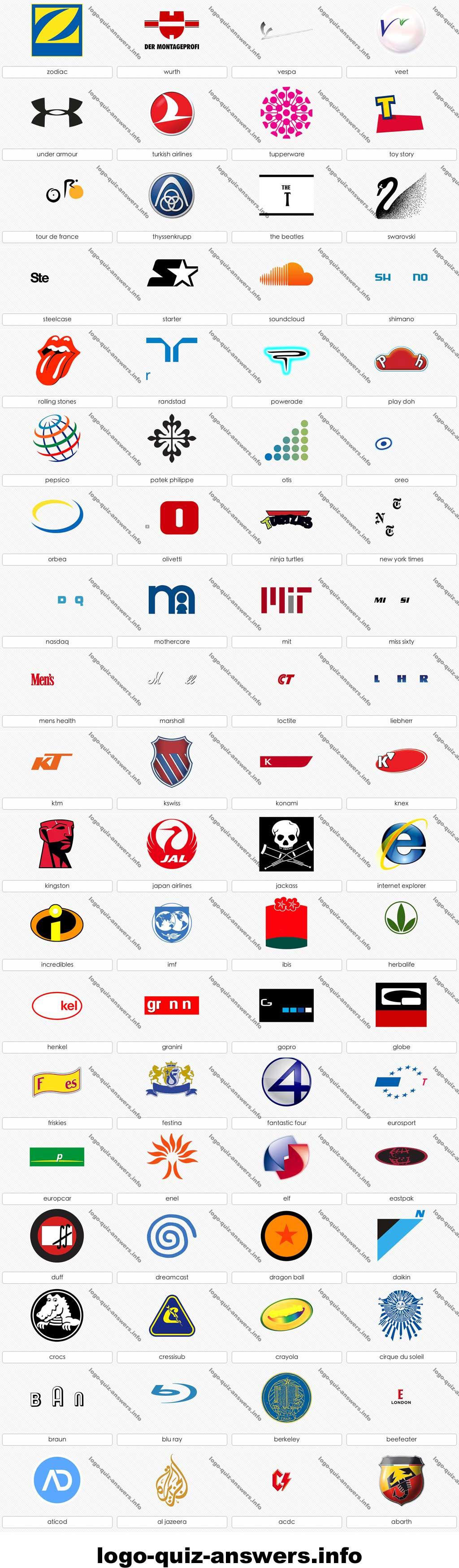 Logo quiz nivel 10 Logotipos
