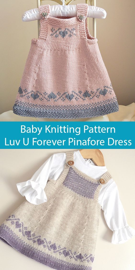 Photo of Luv U Forever Pinafore Dress – Knitting Pattern
