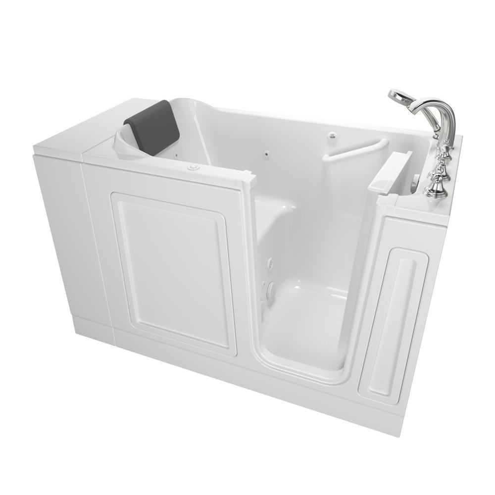 American Standard Acrylic Luxury Series 4 ft. Walk-In Whirlpool ...