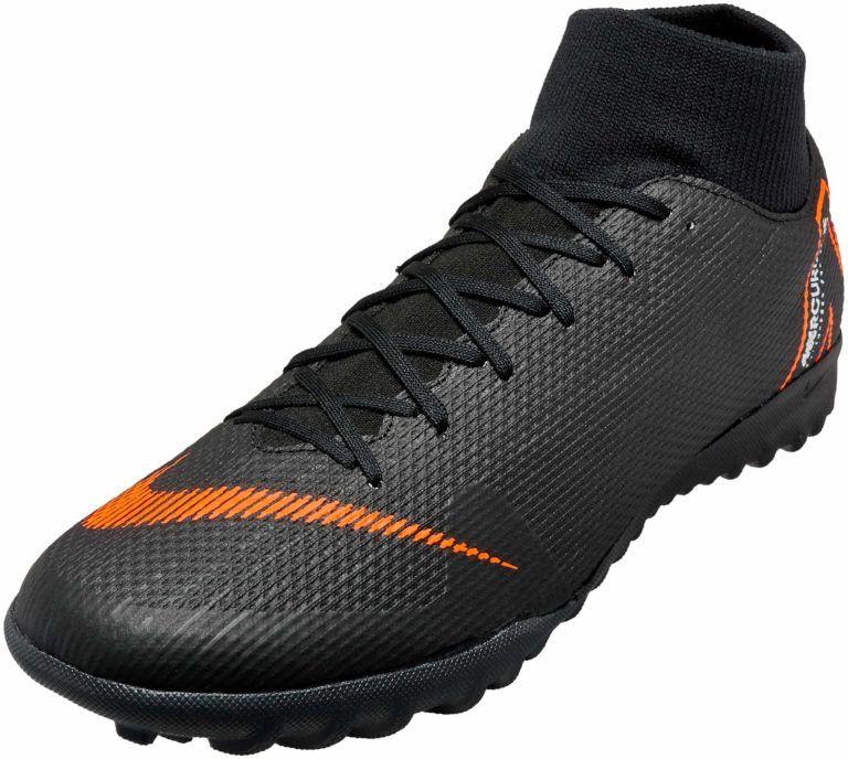 Nike SuperflyX 6 6 6 Academy TF – Nero Total arancia   Soccer scarpe   f32f80