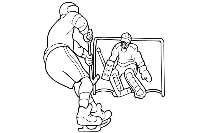Top 10 Free Printable Hockey Coloring Pages Online | Ice hockey and ...