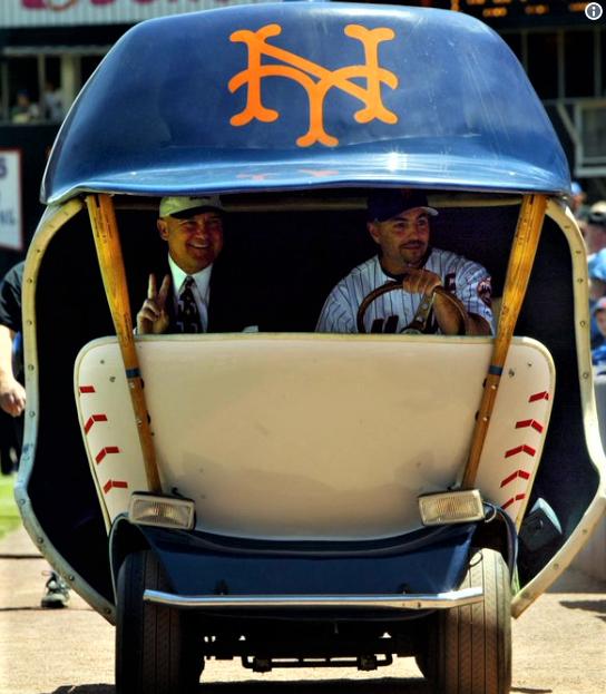 Baseball S Best Bullpen Carts Through The Years March 6 2018 New York Mets Bullpen New York Mets Lets Go Mets