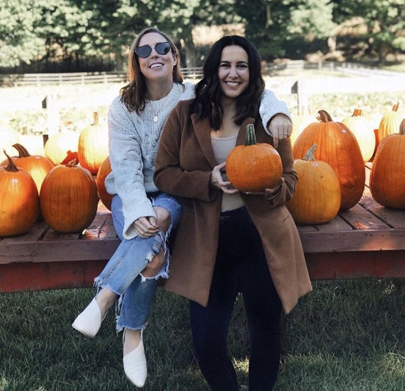 Friends Pumpkin Patch Photoshoot