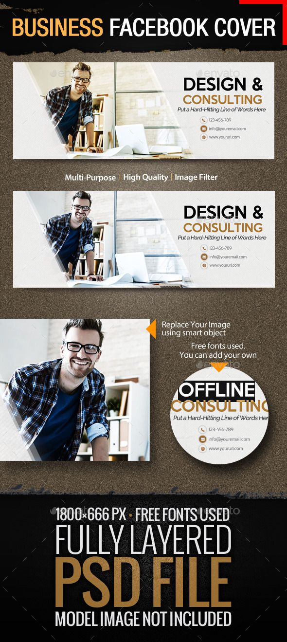 Business - Consulting Facebook Cover Facebook cover template - advertising timeline template