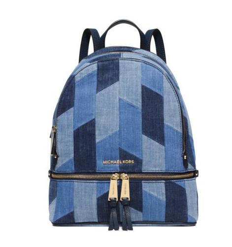 MICHAEL Michael Kors Rhea Medium Mosaic Patchwork Denim Backpack ...