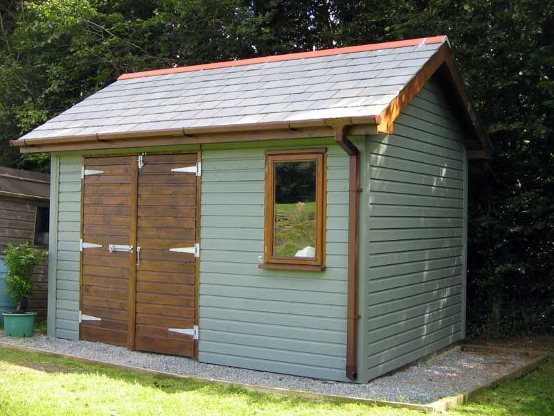 Diy timber garden self build shed or garden room or office for Outside office shed