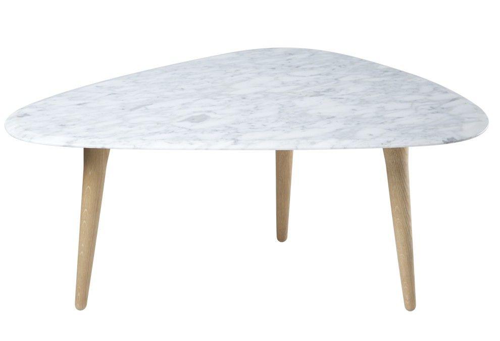Table Basse Avec Un Pietement A 3 Pieds En Chene Massif Et Un Plateau Un Marbre Laque Brillant Laque Traditionnelle Table Basse Mobilier De Salon Deco Salon