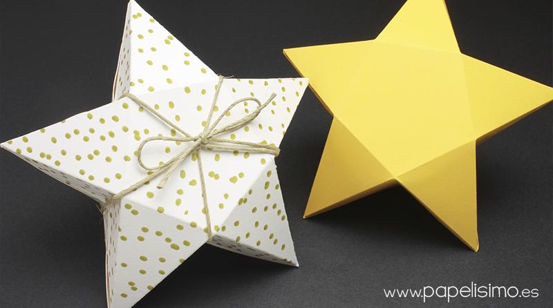 22 Como hacer una estrella de carton grande