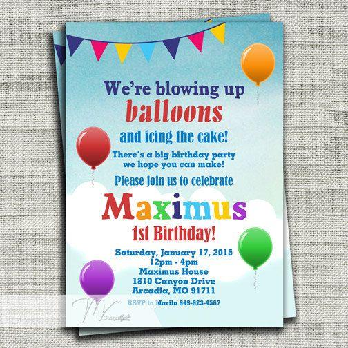 Cute Wording Balloon birthday Nolans First Birthday Balloons