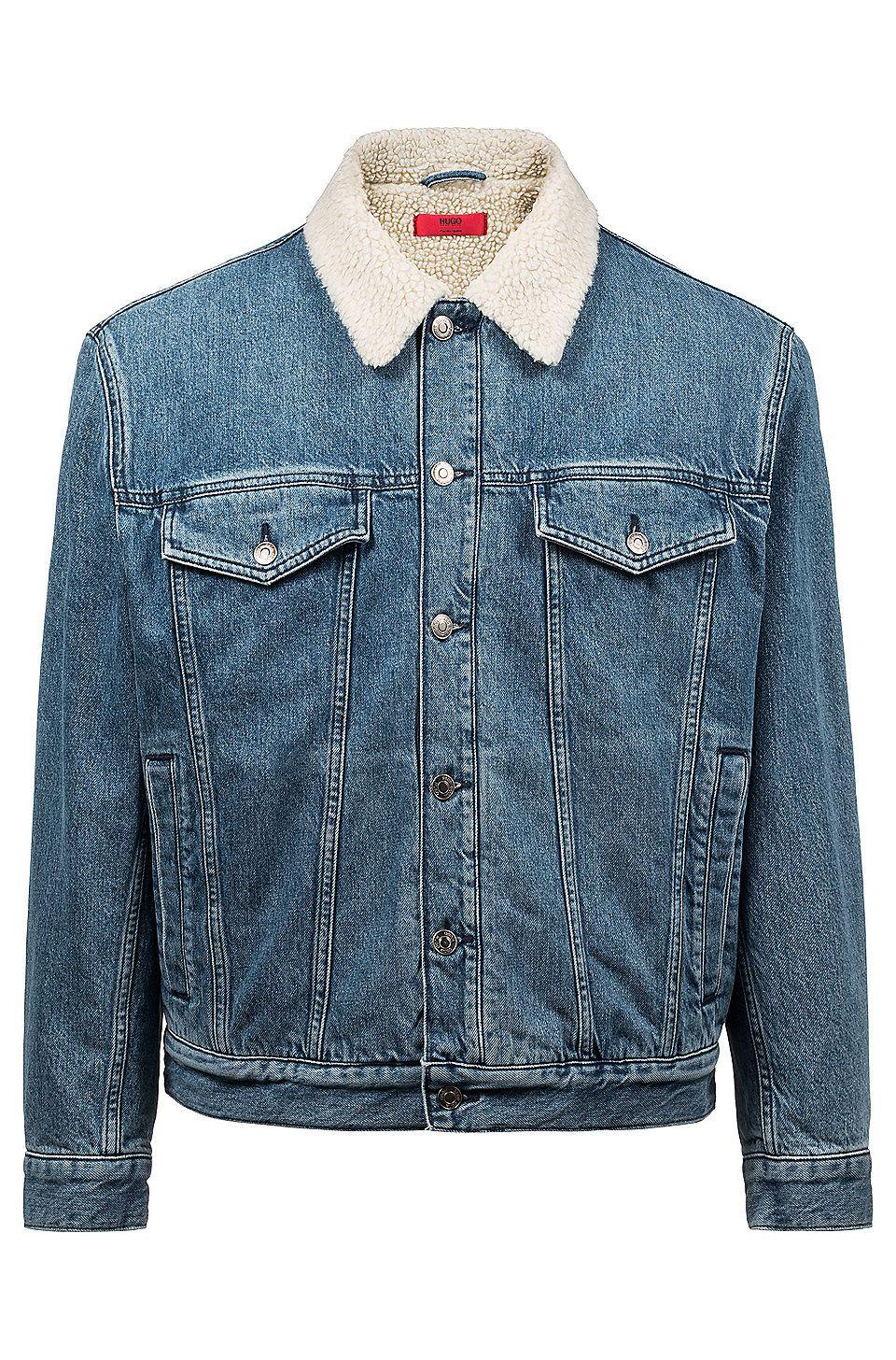 Unisex Denim collared jacket