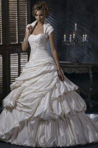 modest wedding dress - short bridal dresses - vintage wedding ...