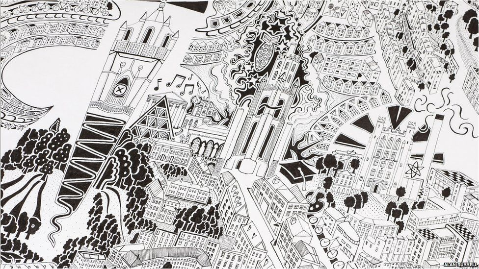 Gareth Wood Hand Drawn Map Bristol