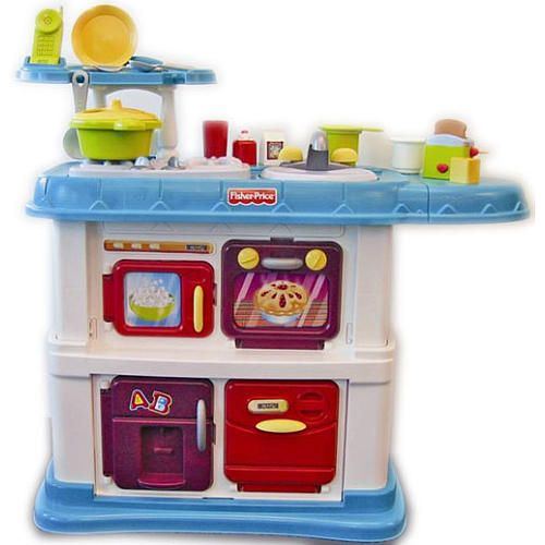 Fisher Price Grow With Me Cook And Care Kitchen Teal Christmas