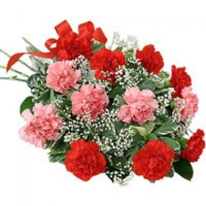 Order Online Red Pink Carnations In Vizag Send Flowers To Visakhapatnam Flowers Online Send Flowers Online Carnation Bouquet