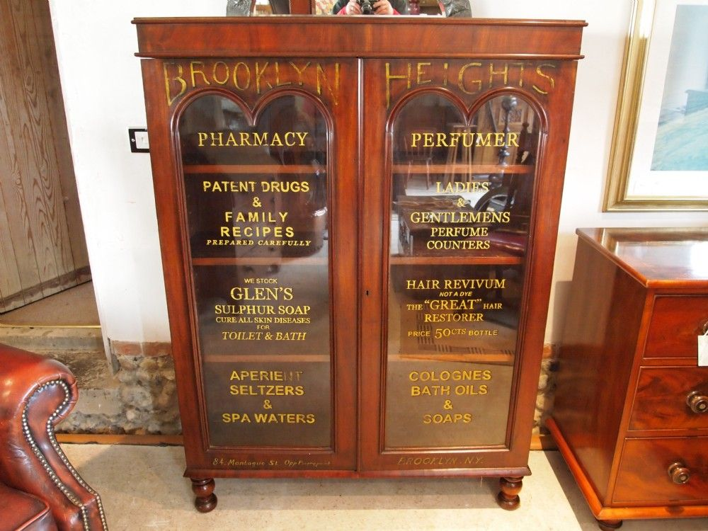 Bookcase haberdashery shop display cabinet apothecary Victorian ...