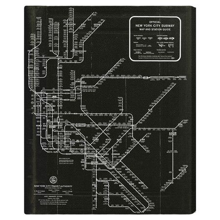1958 New York Subway Map.New York Subway Map 1958 Canvas Print Oliver Gal At Joss And Main