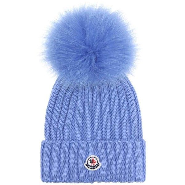 Moncler Fur-Trimmed Wool Beanie ( 340) ❤ liked on Polyvore featuring  accessories 4b4711caba19