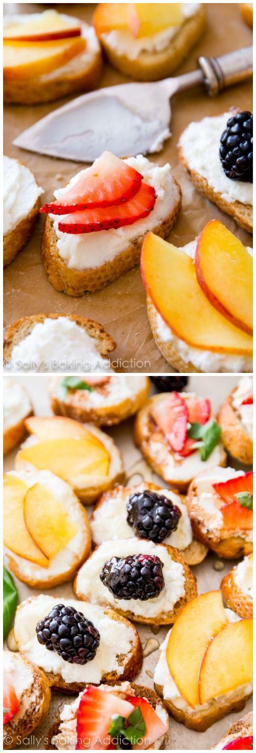 Goat Cheese, Honey, & Fruit Crostini   Sally's Baking Addiction