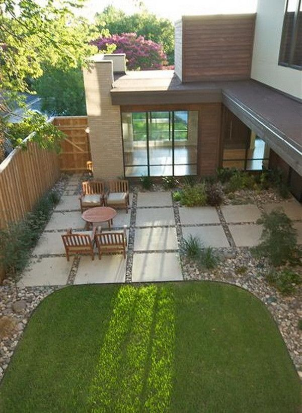 Patio Pavers Wood : Image of wondrous large concrete patio pavers with wooden