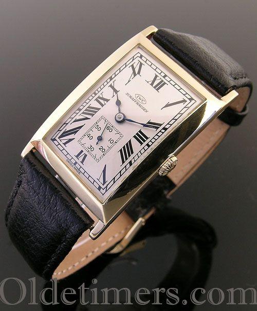 A stunning 18ct gold vintage I.W.C. watch, 1920s