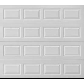 Pella Traditional 108 In X 84 In Insulated White Single Garage Door At Lowes Com Single Garage Door White Garage Doors Garage Door Design