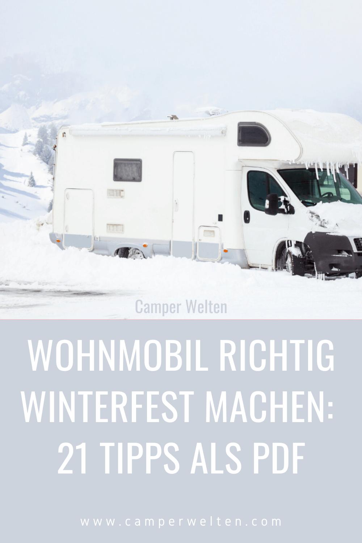 Wohnmobil RICHTIG Winterfest Machen: 9 Tipps Als PDF  Winterfest