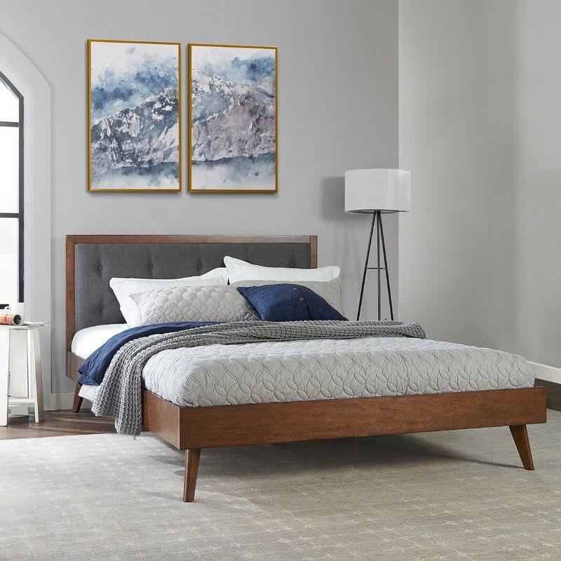 Koda Upholstered Platform Bed With Images Upholstered Platform