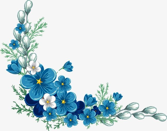 Painted Blue Flower Blue Flower Blue Vector Png Transparent Clipart Image And Psd File For Free Download Blue Flower Painting Blue Flower Wallpaper Flower Border