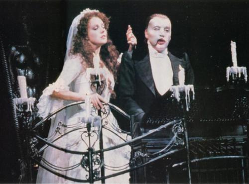 michael crawford amp sarah brightman in the 1986 opening of