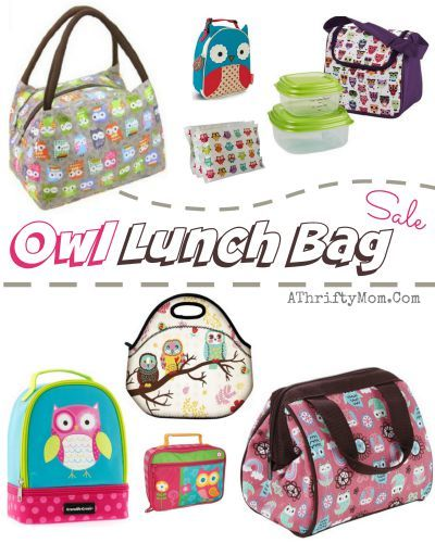 Owl Insulated Lunch Bag For S Water Proof Box Back To School Tweens And