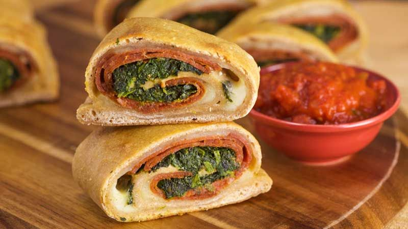 Jeanettes Pepperoni And Spinach Stromboli Sandwichesburgers
