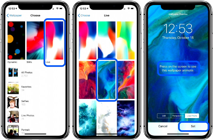 How To Set Custom Live Wallpaper On Iphone Xr Wallpapers Iphone Lock Live Wallpaper Iphone Iphone Dynamic Wallpaper Live Wallpapers