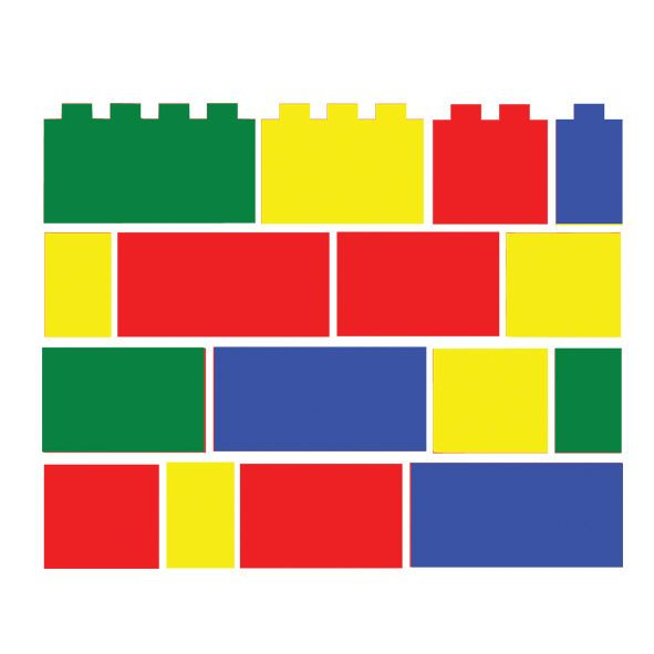 Best 48 X Lego Brick Block Set Children S Vinyl Wall Art 400 x 300
