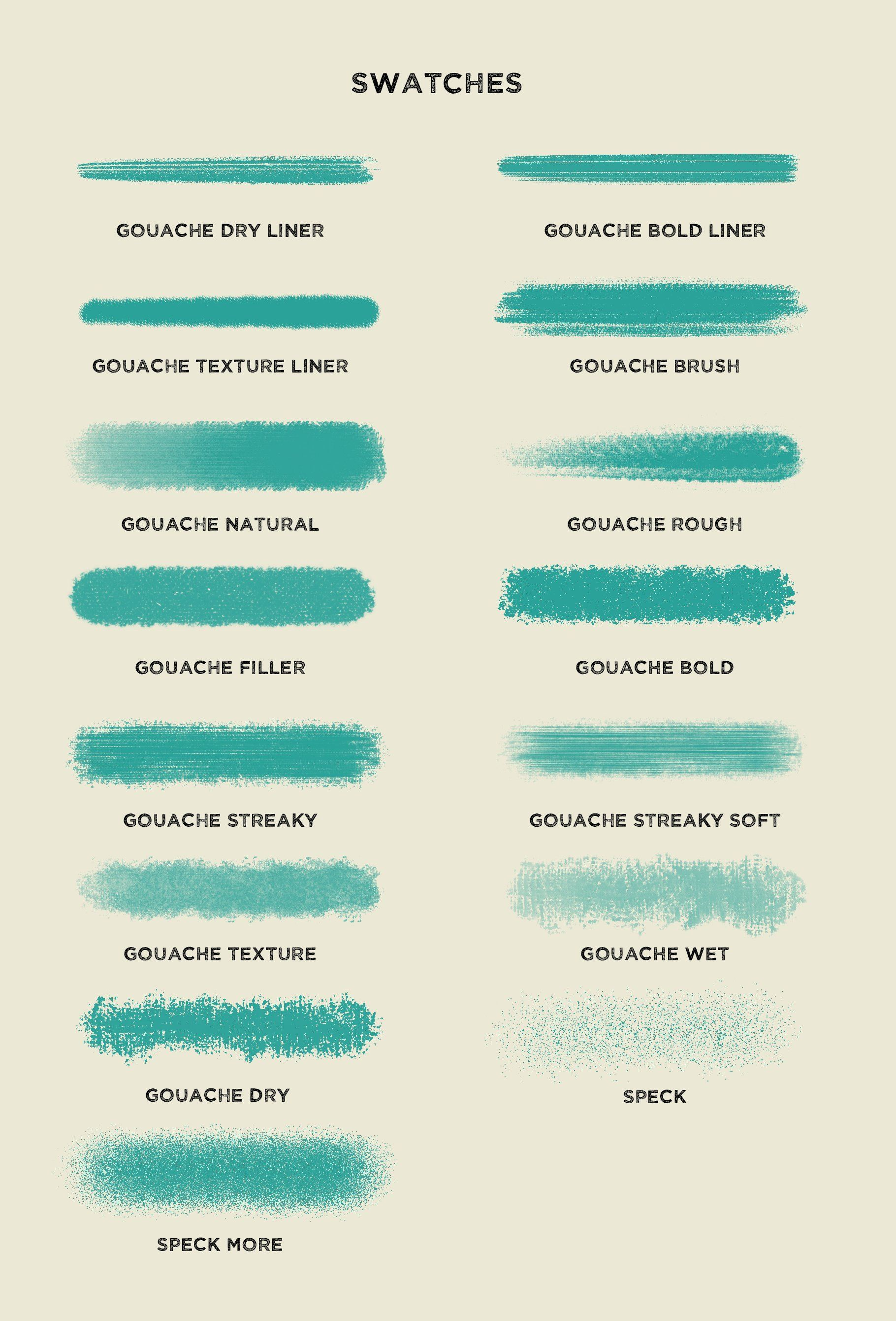 Gouache Brushes For Procreate Ink Brush Portrait Photography