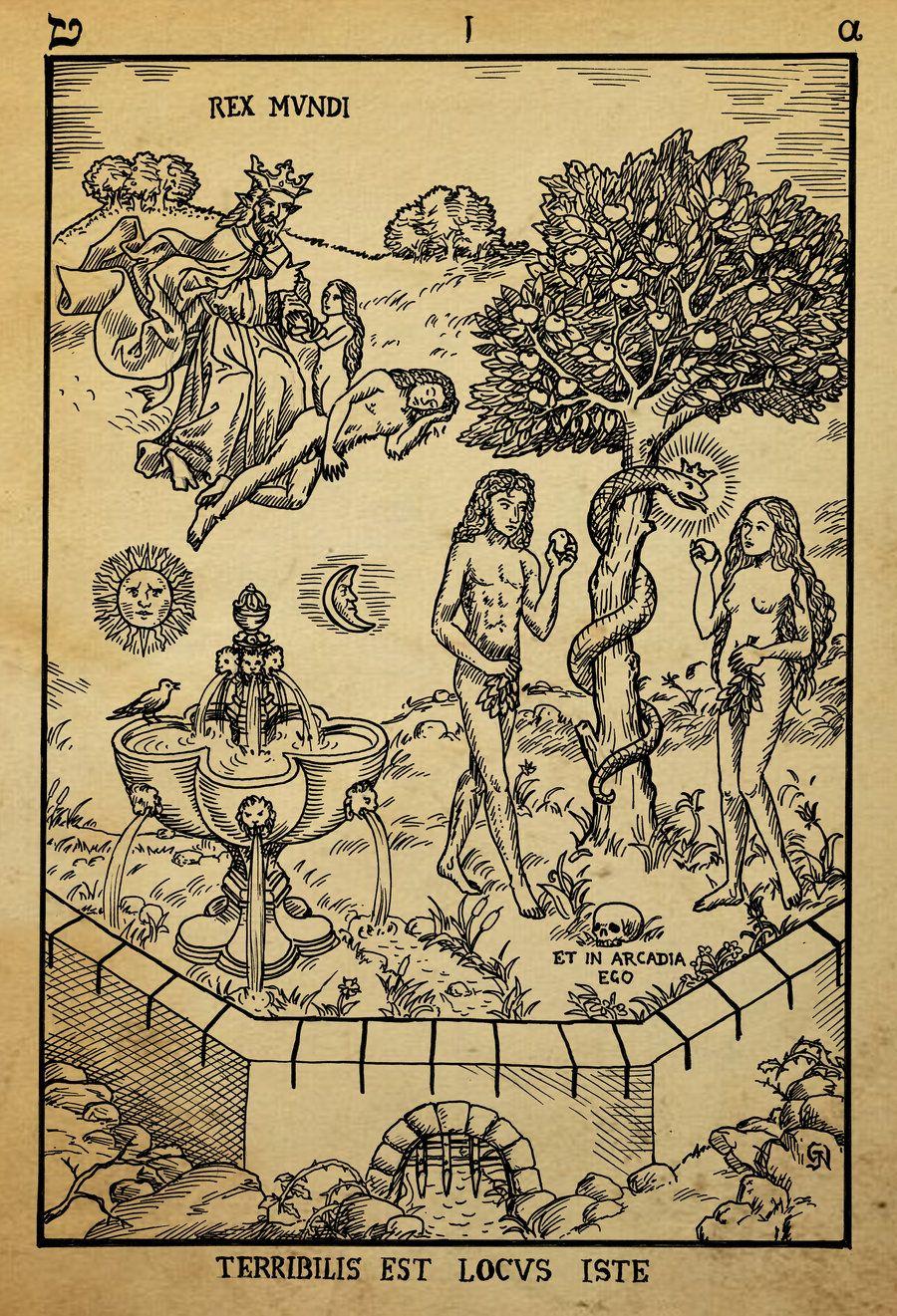 Alchemy Tarot Card Meaning: Alchemy_woodcut_terebilis_est_locus_iste_by_dashinvaine