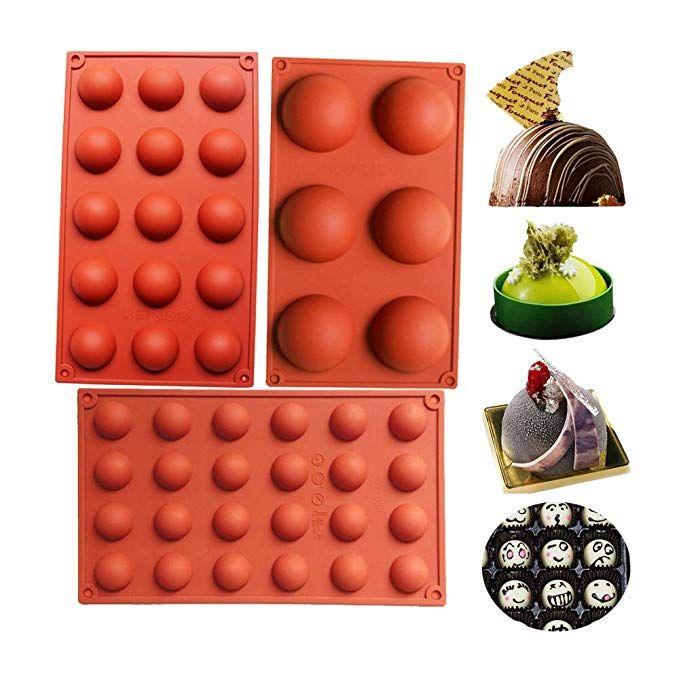 6 Holes Semicircle Mold Silicone Cake Mold Truffle Mousse Mold Cake Decor Molds