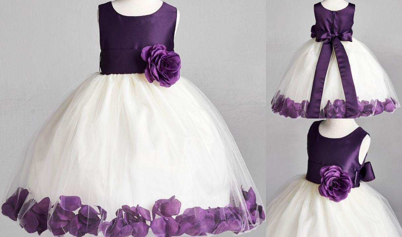 Royal Blue Rose Petal Tulle Dress Flower Girl Bridesmaid Birthday Easter #22