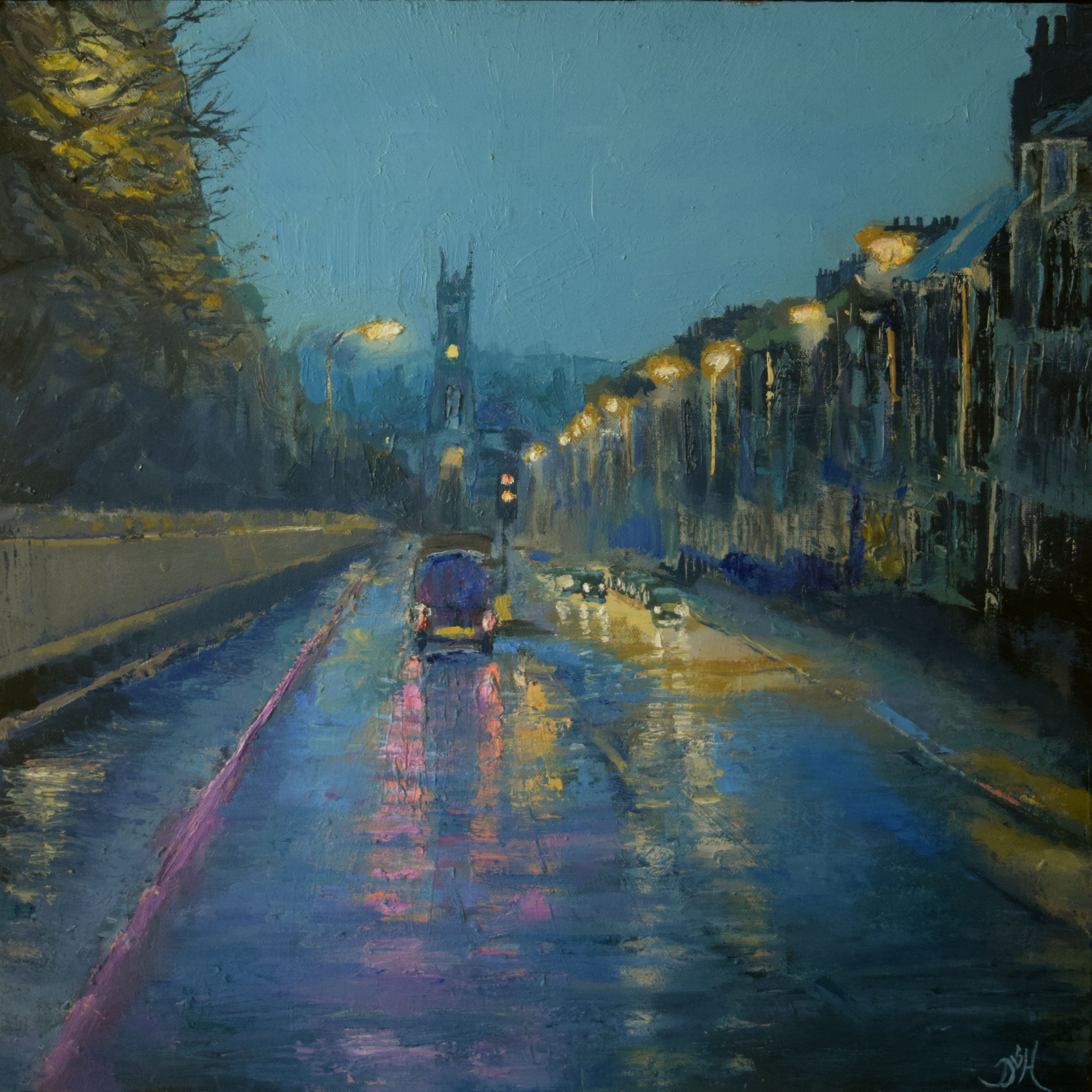 Rainy evening, Edinburgh by Douglas Hamilton