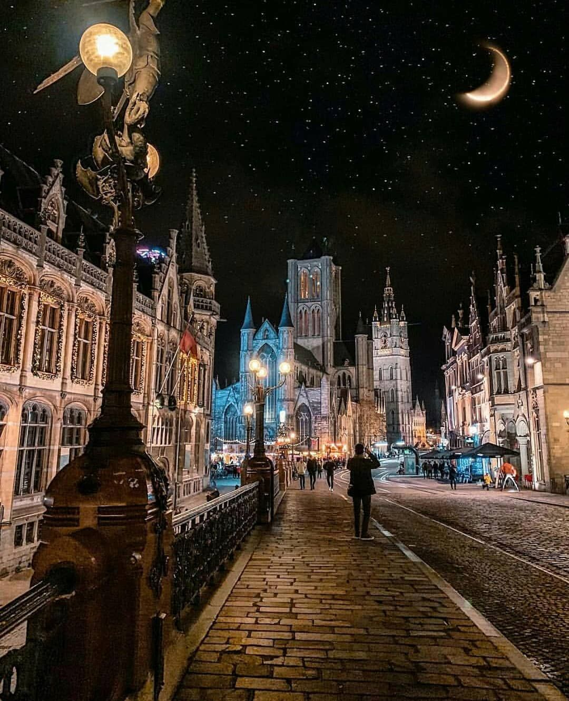 "Living Destinations on Instagram ""Starry night Gent"